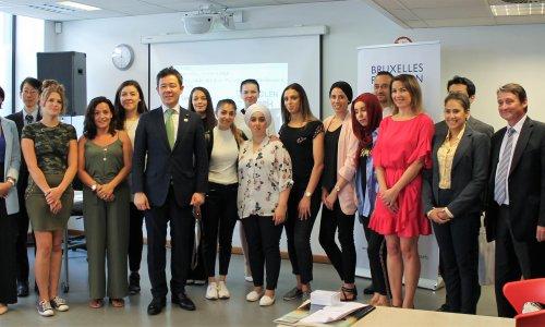 Visite d'une délégation japonaise à Bruxelles Formation