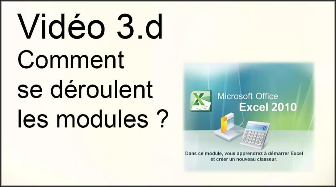 Vidéo 3.d : Comment se déroulent les modules ?