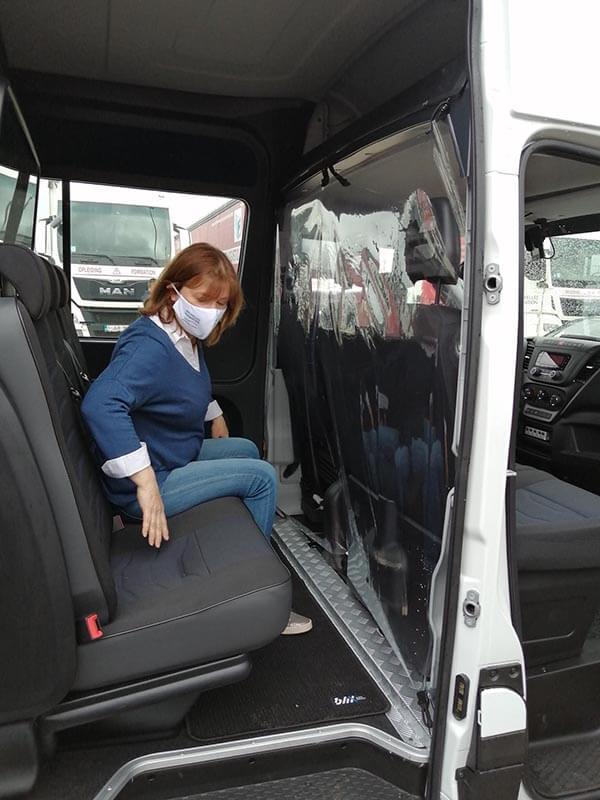 Chauffeur à BF logistique film plastique de protection